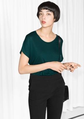 &Other Stories Wool-Blend Top dark green (85% modal 15% wool) € 19