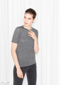 &Other Stories Wool-Blend Top grey (70% Lyocell 30% wool) € 25