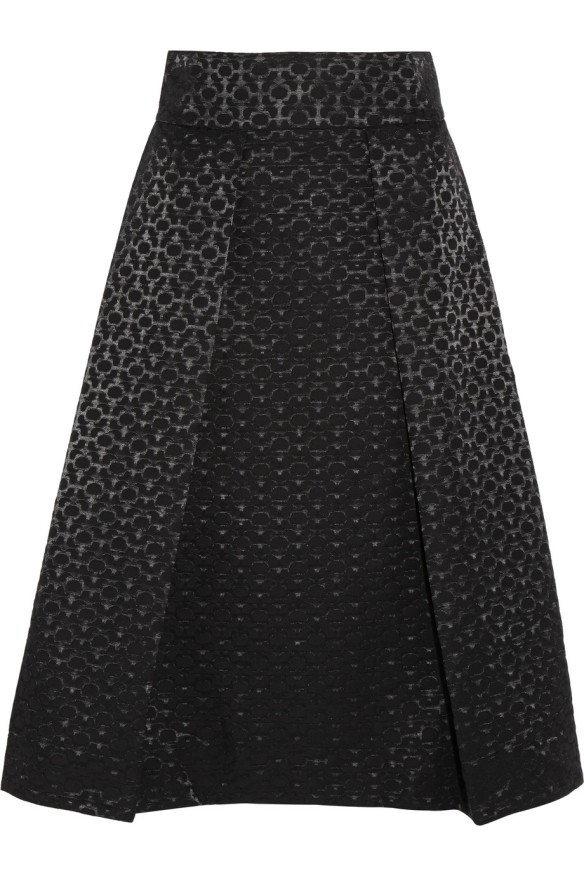 STUDIO NICHOLSON Montego satin-jacquard skirt