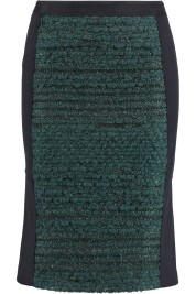 TORY BURCH Keegan embroidered wool-felt skirt
