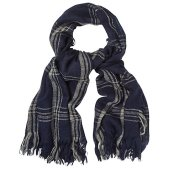 White Stuff Check Scarf, Navy