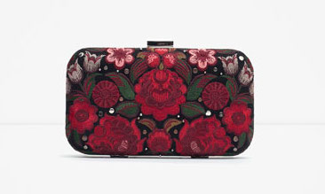 Zara EMBROIDERED EVENING BAG