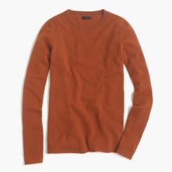 COLLECTION CASHMERE LONG-SLEEVE T-SHIRT in warm sepia