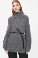 COS HIGH-NECK JUMPER light grey