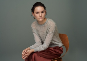 FINERY-Sander Contrast Knit Jumper with Seam Detailing