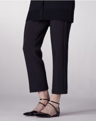 ME+EM SLIM CROP TROUSER black
