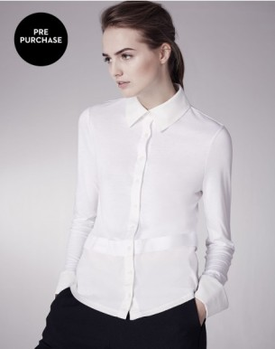 ME+EM THE CUFF + TAIL LAYER SHIRT white