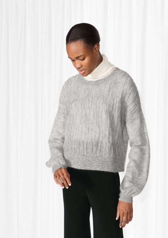 &Other Stories Mohair Blend Sweater light grey