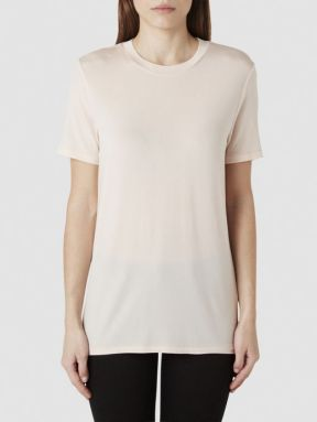 Selected Femme Cupro - T-shirt in silver peony