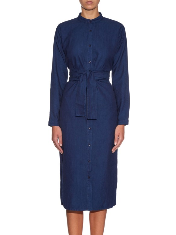 TIBI Button-through denim shirtdress