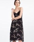 Zara FLORAL CAMISOLE DRESS