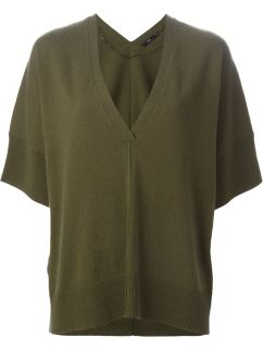 STILLS shortsleeved sweater in olive