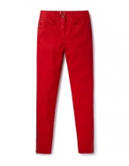 Boden ZIP ANKLE SKIMMER JEANS red