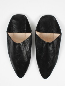 Bohemia MOROCCAN POINTED BABOUCHE SLIPPERS, BLACK