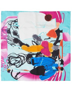 CHRISTIAN LACROIX LIGHT BLUE FIGURINE FOULARD