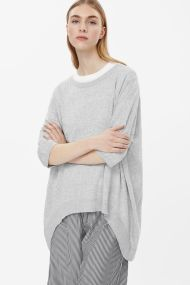 COS OVERSIZED LONG TOP light grey