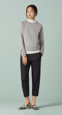 Finery Bidder Forever Zip Detail Sweatshirt grey
