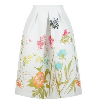 HOBBS Tulip Border Skirt