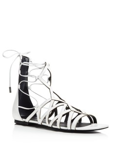Kendall and Kylie Cody Lace Up Flat Sandals