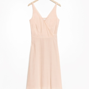 &Other Stories Mesh Finish Dress beige.