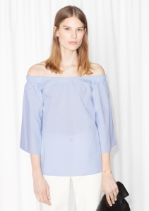 & Other Stories Off Shoulder Blouse lavender.