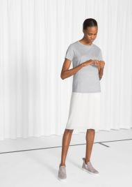 &Other Stories Straight Fit Lyocell T-Shirt grey