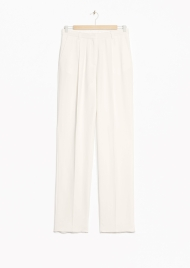 &Other Stories Tailored Trousers white