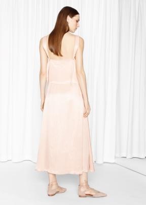 &Other Stories V-Neck Dress beige (back)