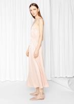 &Other Stories V-Neck Dress beige