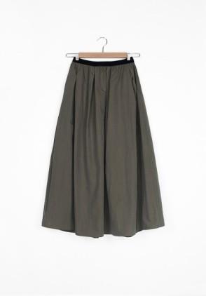 Hidden Forest Cotton long skirt kaki