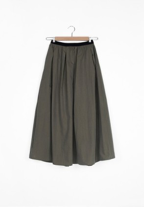 Hidden Forest Cotton long skirt kaki