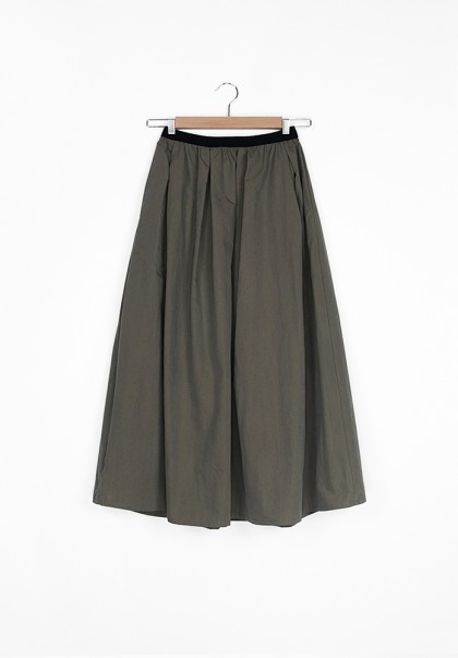 Hidden Forest Cotton long skirt khaki