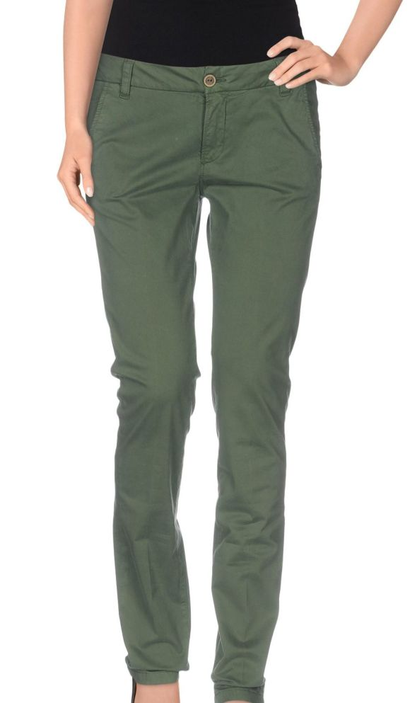 MANILA GRACE DENIM Casual trouser green
