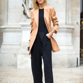 Monochrome + different colour blazer