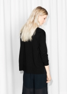&Other Stories Boxy Cotton Sweater black