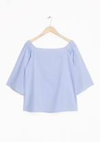 &Other Stories Off Shoulder Blouse lavender