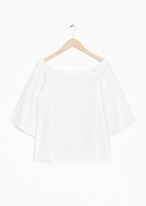 &Other Stories Off Shoulder Blouse white
