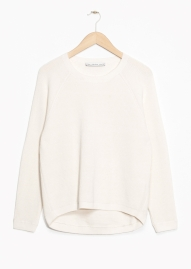 &Other Stories Organic Cotton Sweater white