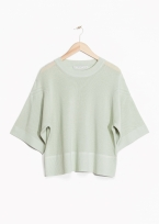 &Other Stories Wide Fit Cotton Sweater in mint
