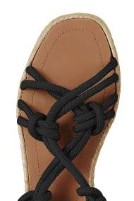 TOPSHOP FABRIC Tie Sandals black (detail)
