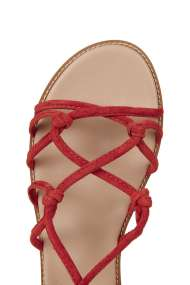 TOPSHOP FUNFAIR Knotted Sandals RED (detail)