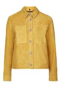TOPSHOP Suede Harrington Jacket by Boutique in ochre