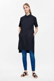 COS GROSGRAIN DETAIL SHIRT DRESS navy