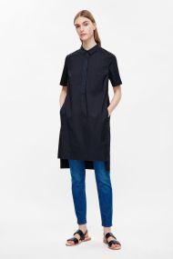 COS GROSGRAIN DETAIL SHIRT DRESS navy