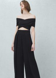 Mango Palazzo trousers - CAMILLA black