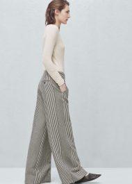 Mango PREMIUM - Linen-blend palazzo trousers