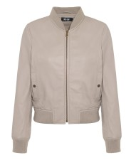 ME+EM LUXURY LEATHER BOMBER Leather - Soft Mink