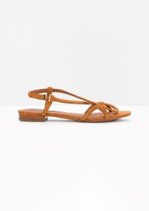 &Other Stories Looped Suede Sandals beige