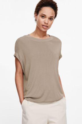 COS OVERSIZED KNIT TOP beige