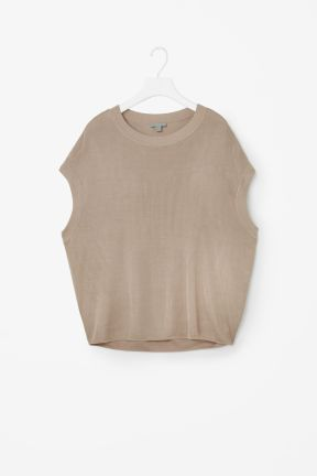 COS OVERSIZED KNIT TOP beige.